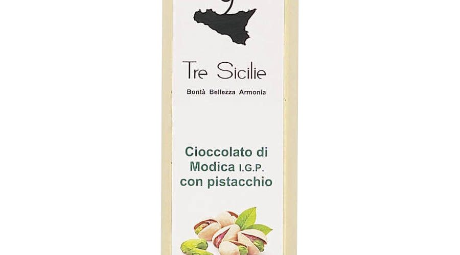 Cioccolato di Modica IGP con Pistacchio