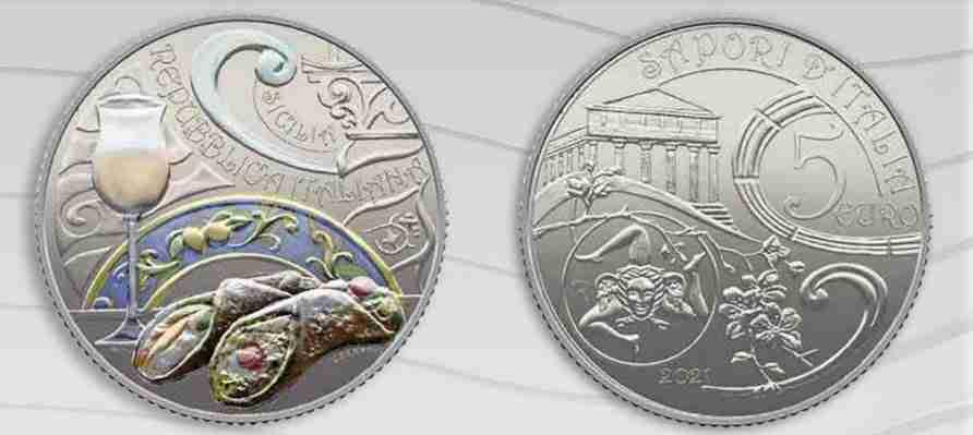 moneta cannolo 5 euro