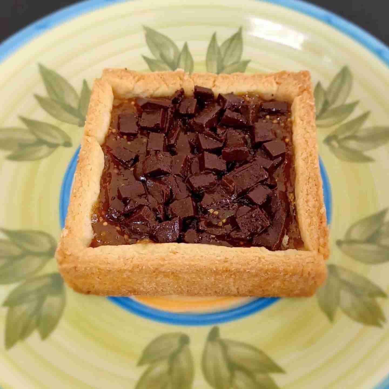 crostata di fichi e cioccolato